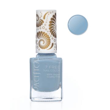 Pacifica | 7 Free Nail Polish | Pale Blue Eyes Light Blue